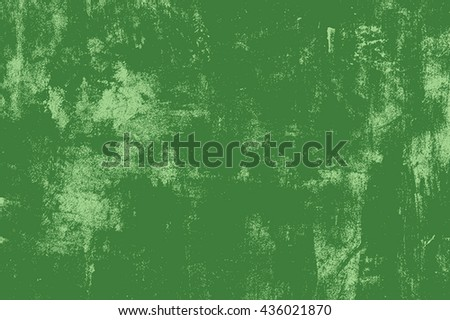Distress Green Messy Grunge Texture. Empty Design Element.  EPS10 vector.