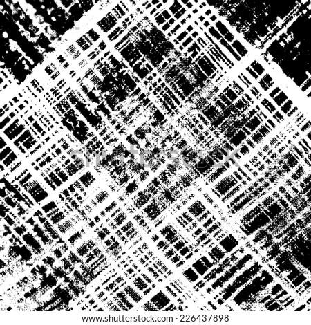 Distress Overlay Checkered Texture for your design. EPS10 vector. - stock vector