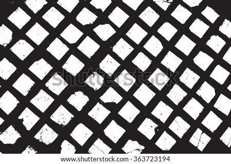 Distress Overlay Grid texture. EPS10 vector. - stock vector