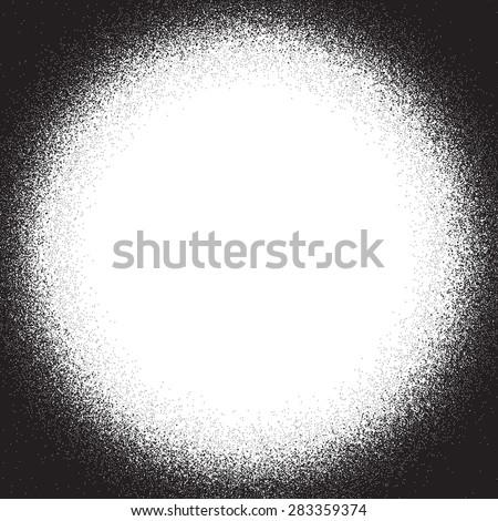 Distress Overlay texture. Corner vignette. Circle frame. Hand Made. EPS10 vector. - stock vector