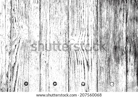 Distress Wooden Overlay Grainy Texture For Your Design. EPS10 vector. - stock vector