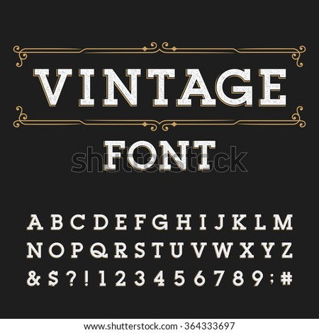 Vintage Font Stock Images, Royalty-Free Images & Vectors ...