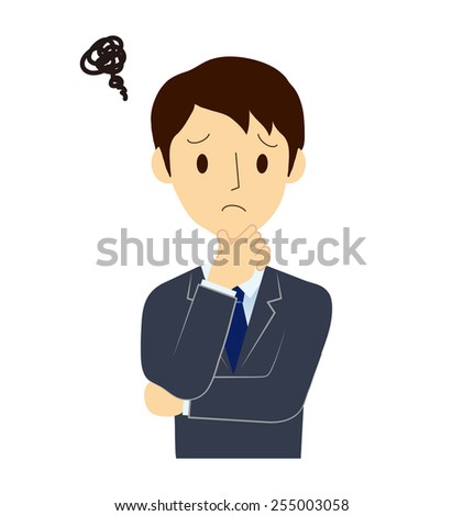 Distressed are businessman - stock vector