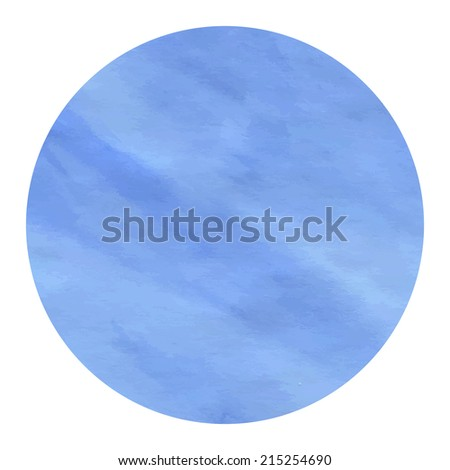 Distressed circle design of blue watercolor background. Vector illustration. - stock vector
