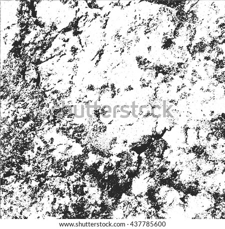 Distressed Cracked Marble Overlay Texture. Grunge style - stock vector