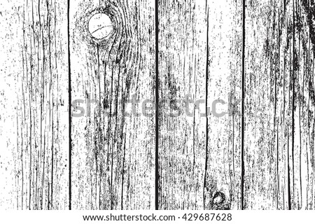 Distressed Dry Wooden Planks Overlay Texture. Empty Grunge Design Background. EPS10 vector. - stock vector