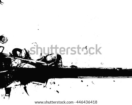 Distressed overlay texture of dust metal, cracked peeled concrete, grunge background. - stock vector