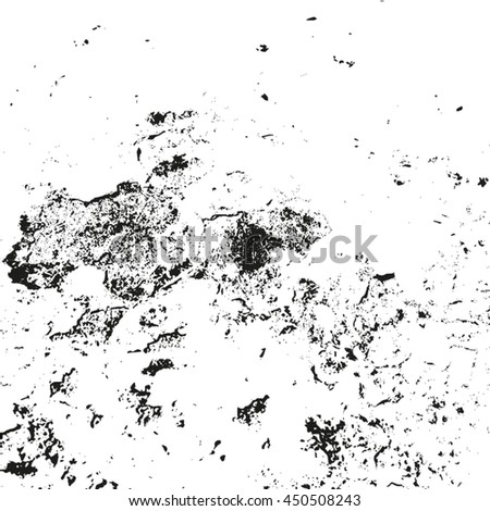 Distressed overlay texture of rusty peeled metal, cracked concrete, stone and asphalt. grunge background. abstract halftone vector illustration