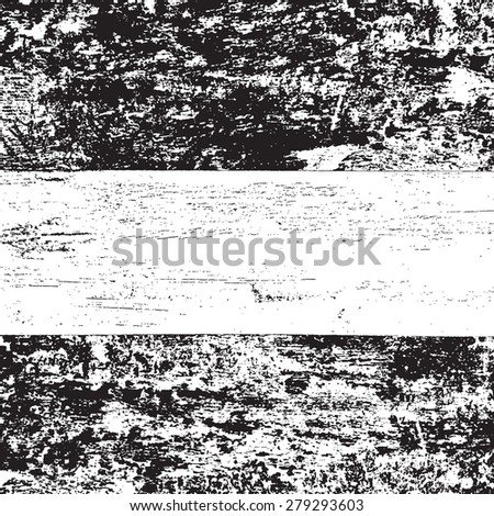 Distressed wood overlay texture. EPS10 vector.