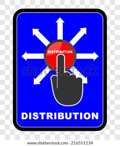 Distribution, icon vector  - stock vector