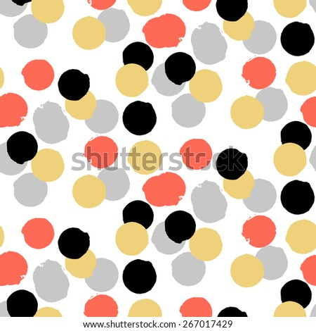 Ditsy vector polka dot pattern random stock vector for Red and white polka dot pattern
