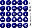 diverse button set 6 - stock vector