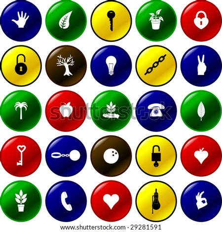 diverse button set 10