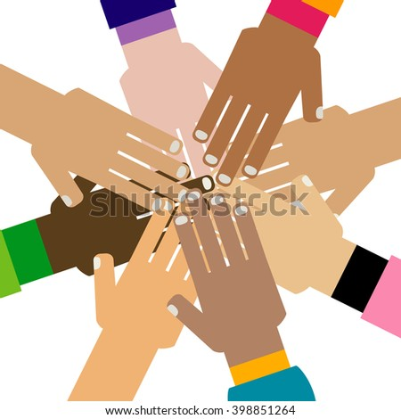 diversity hands together