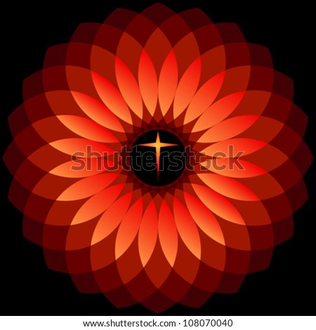 DIVINE HOLY CROSS - stock vector