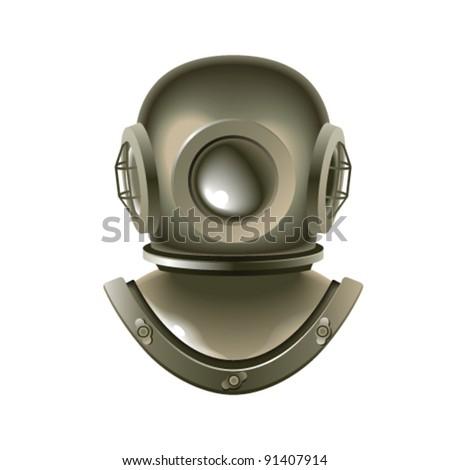 Diving Helmet - stock vector