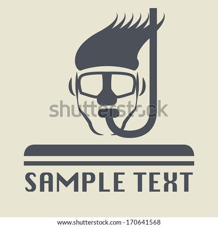 Diving icon or sign, vector illustration - stock vector