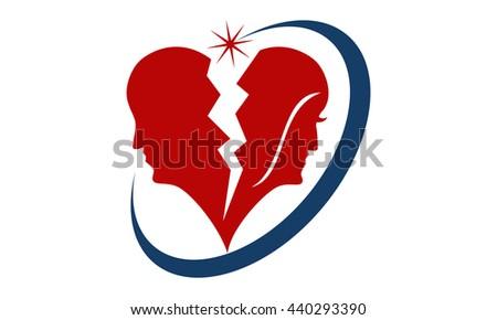 Divorce Solutions - stock vector