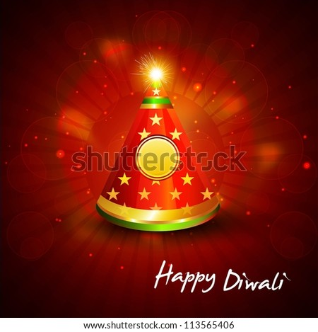 diwali crackers bright colorful vector design