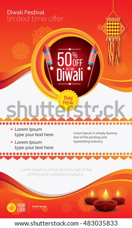 Diwali Festival Offer Poster Design Template
