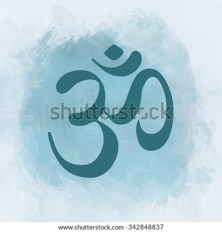 Diwali Om Sacred symbol. Vintage style decorative vector elements. Hand drawn background. Indian, Great design for tattoo, yoga studio, spirituality concepts, trendy textiles.