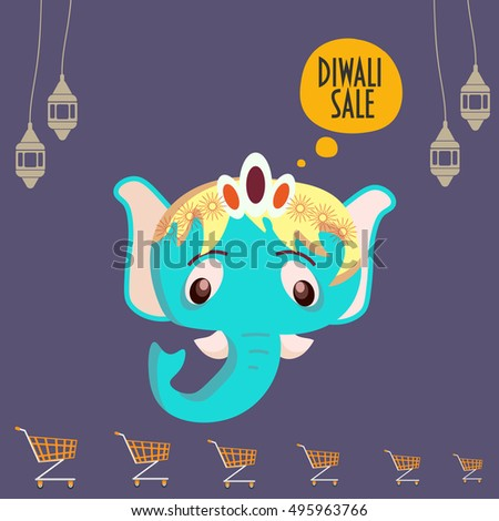 Diwali Sale Protion Template Cartoon Styled Stock Photo (Photo ...
