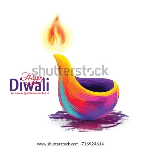 Diwali Vector Illustration On The Theme Of Traditional Celebration Happy Deepavali Light
