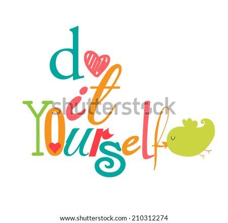 DIY Do it yourself - stock vector