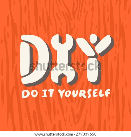 Diy do it yourself stock vector