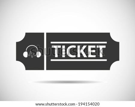 DJ Concert Tickets - stock vector