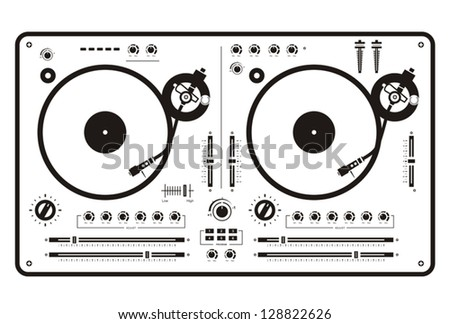 Dj Double Scratch Turntable Stock Vector (Royalty Free ...
