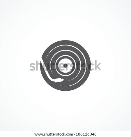 DJ icon - stock vector