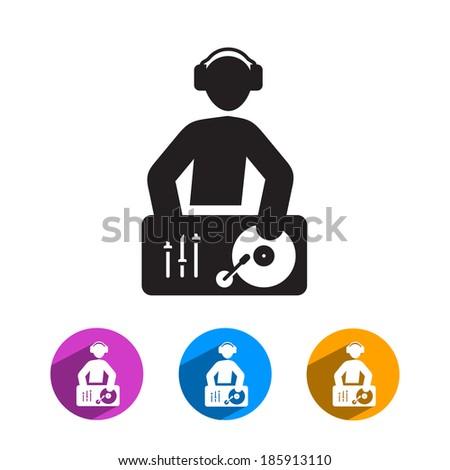 DJ icon. Vector format - stock vector