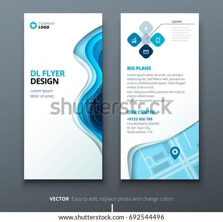 Dl Flyer Design Corporate Business Template Stock Vector 692544496
