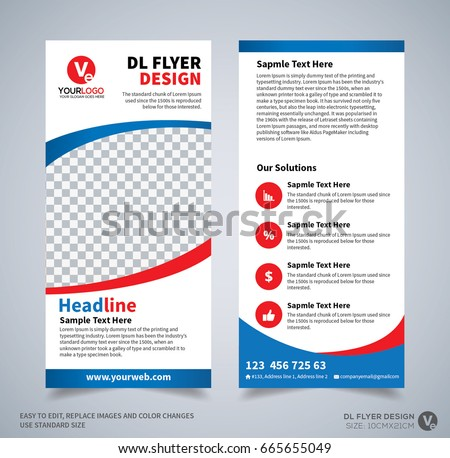 Dl Flyer Design Template Dl Corporate Stock Photo Photo Vector