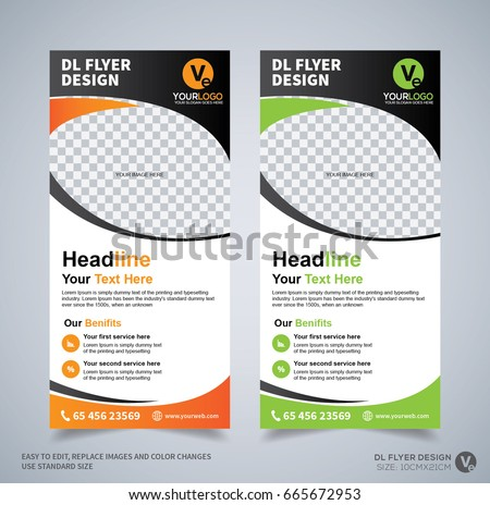 Dl Flyer Design Template Dl Corporate Stock Vector 665672953