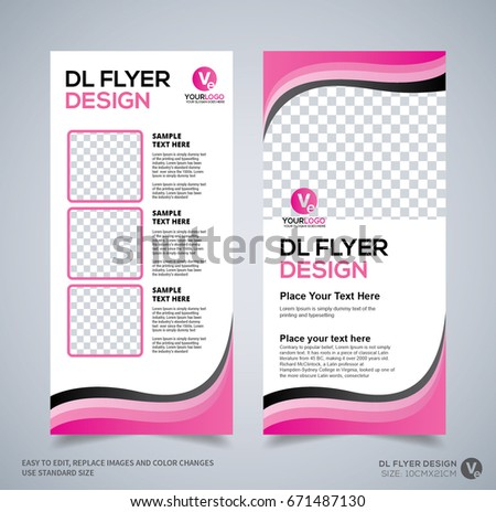Dl Flyer Design Template Dl Corporate Stock Vector 2018 671487130