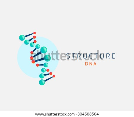 dna abstract icon, logo design template - stock vector