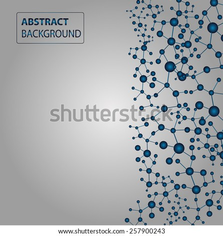 DNA, abstract molecule, cell illustration. Molecular Medicine chromosome vector. Abstract Technology background for computer graphic website internet and business.  text box. label. card.