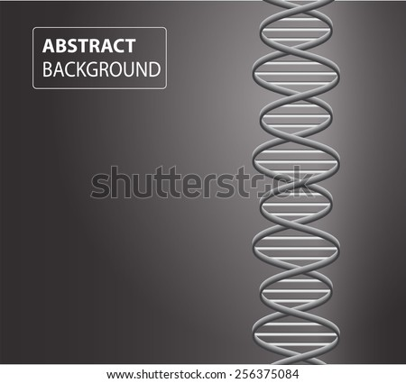 DNA background. molecular structure of planar elements. vector. Black Light Abstract Technology background for computer graphic website internet and business. text box. - stock vector