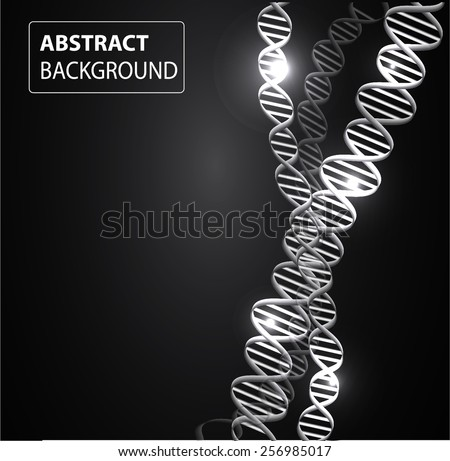 DNA background. molecular structure of planar elements. vector. black Light Abstract Technology background for computer graphic website internet and business.