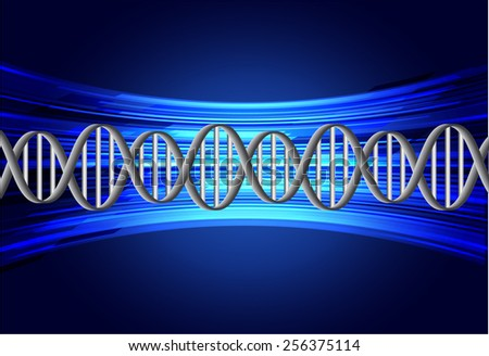 DNA background. molecular structure of planar elements. vector. blue Light Abstract Technology background for computer graphic website internet and business. text box. - stock vector