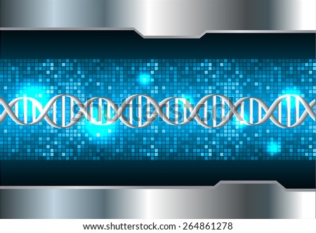 DNA background. molecular structure of planar elements. vector. blue Light Abstract Technology background for computer graphic website internet and business. silver. Pixel, mosaic, table - stock vector