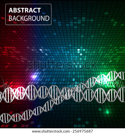 DNA background. molecular structure of planar elements. vector. colorful Light Abstract Technology background for computer graphic website internet and business. text box. Tables, mosaic
