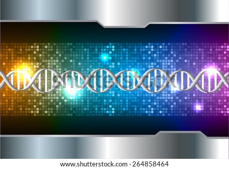 DNA background. molecular structure of planar elements. vector. orange blue purple Light Abstract Technology background for computer graphic website internet and business. silver. Pixel, mosaic, table - stock vector