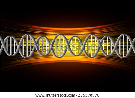 DNA background. molecular structure of planar elements. vector. orange Light Abstract Technology background for computer graphic website internet and business. text box. - stock vector