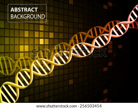 DNA background. molecular structure of planar elements. vector.orange Light Abstract Technology background for computer graphic website internet and business. text box. Tables, mosaic - stock vector
