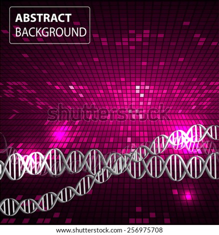 DNA background. molecular structure of planar elements. vector. pink Light Abstract Technology background for computer graphic website internet and business. text box. Tables, mosaic - stock vector