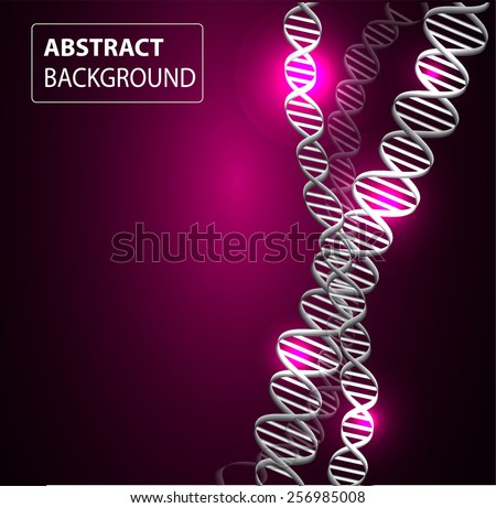 DNA background. molecular structure of planar elements. vector. purple Light Abstract Technology background for computer graphic website internet and business. - stock vector
