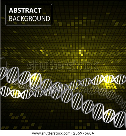 DNA background. molecular structure of planar elements. vector. yellow Light Abstract Technology background for computer graphic website internet and business. text box. Tables, mosaic - stock vector